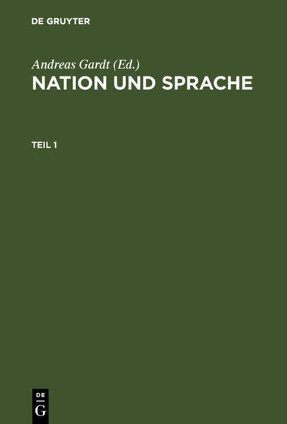 Nation und Sprache als Buch