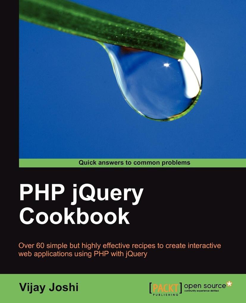 PHP Jquery Cookbook als Taschenbuch von Vijay J...