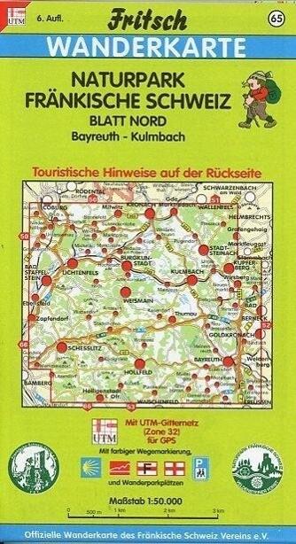 Naturpark Fränkische Schweiz Nord 1 : 50 000. Fritsch Wanderkarte als Buch