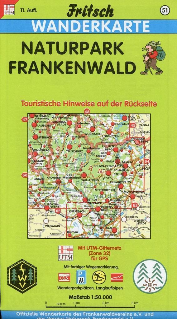 Naturpark Frankenwald 1 : 50 000. Fritsch Wanderkarte als Buch
