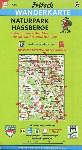Naturpark Haßberge 1 : 50 000. Fritsch Wanderkarte als Buch