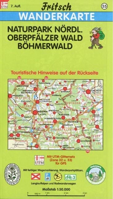 Naturpark Nördlicher Oberpfälzer Wald / Böhmerwald 1 : 50 000. Fritsch Wanderkarte als Buch