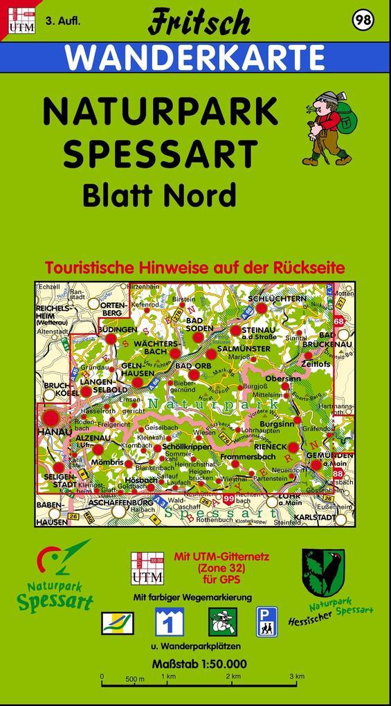 Naturpark Spessart Blatt Nord 1 : 50 000. Fritsch Wanderkarte als Buch