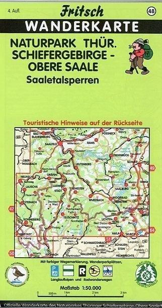 Naturpark Thüringer Schiefergebirge - Obere Saale. 1 : 50 000. Fritsch Wanderkarte als Buch