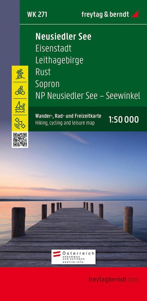 Neusiedler See - Eisenstadt - Leithagebirge - Rust - Sopron - Seewinkel Nationalpark 1 : 50 000. WK 271 als Buch