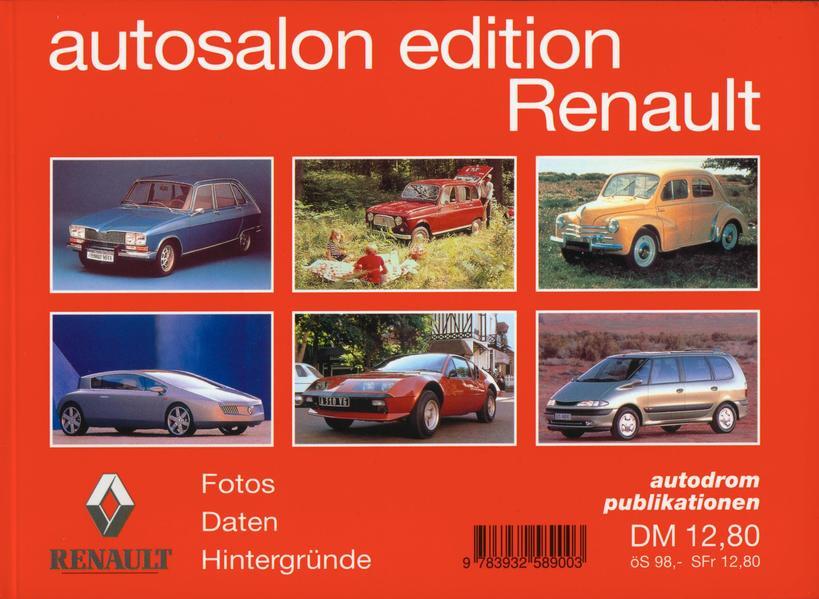 Autosalon Edition Renault als Buch
