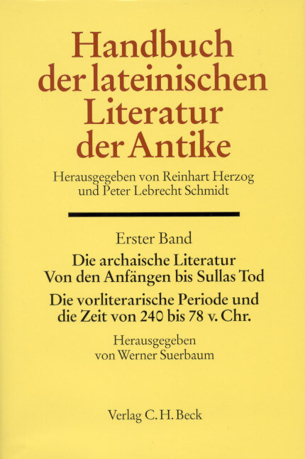 Handbuch der lateinischen Literatur der Antike 1 als Buch