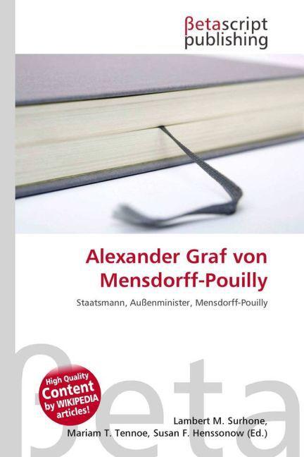 Alexander Graf Von Mensdorff-Pouilly als Taschenbuch