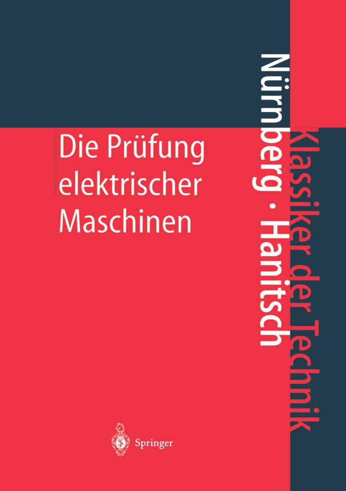 Die Prüfung elektrischer Maschinen als Buch