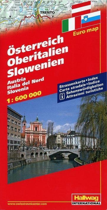 Österreich / Oberitalien / Slowenien 1 : 600 000 als Buch