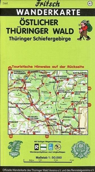 Östlicher Thüringer Wald / Thüringer Schiefergebirge. Fritsch Wanderkarte als Buch