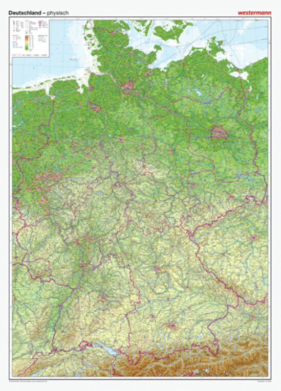 Posterkarten Geographie: Riesenposter Deutschla...