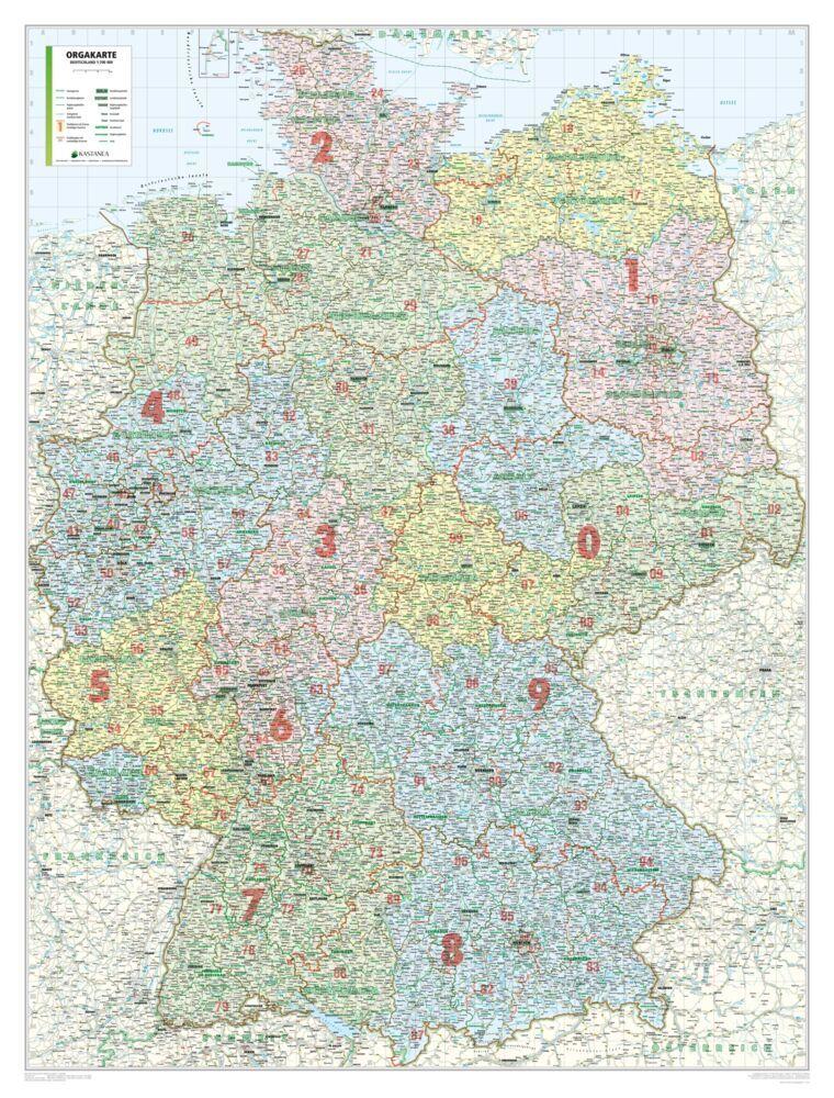 Bacher Orga-Karte Deutschland 1 : 500 000. Gefaltet in Schutzhülle als Buch
