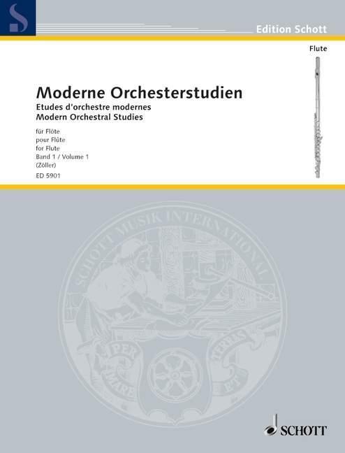 Moderne Orchesterstudien für Flöte als Buch von