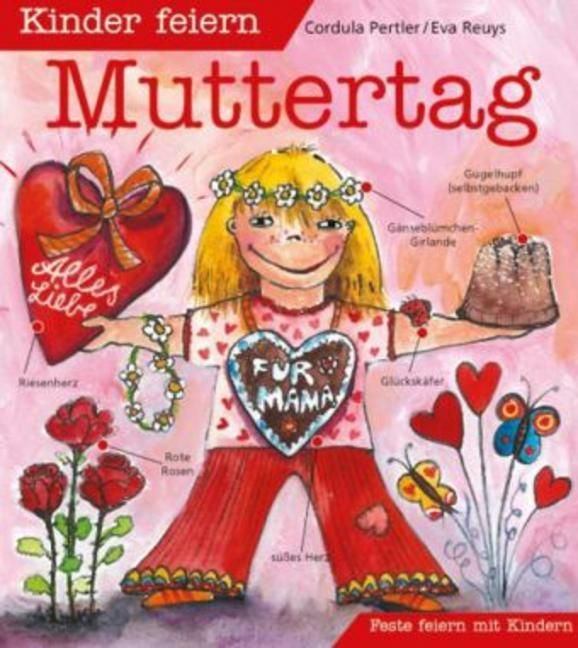 Kinder feiern Muttertag als Buch