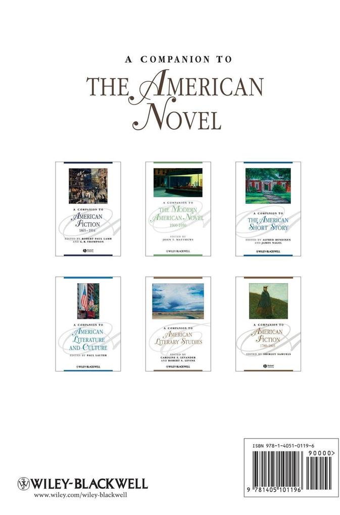 A Companion to the American Novel als Buch von ...