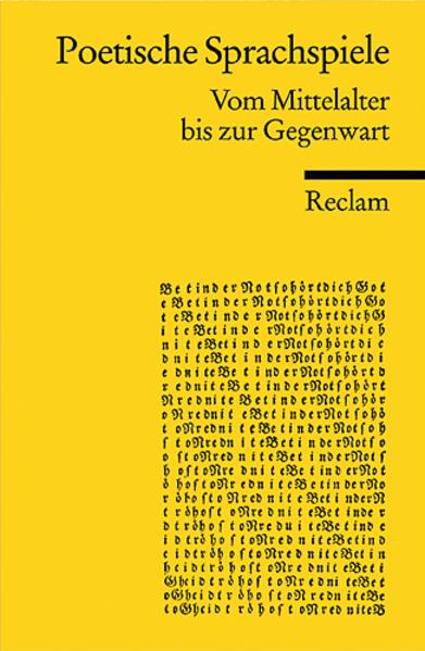 Poetische Sprachspiele als Taschenbuch