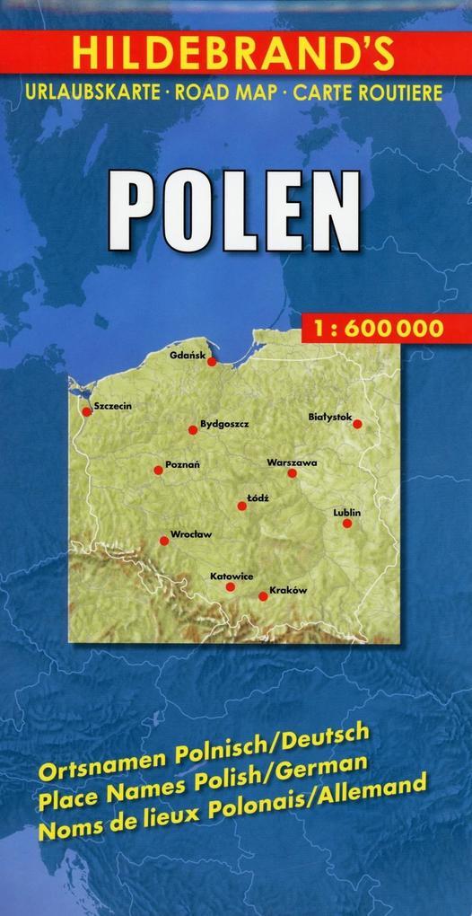 Polen 1 : 600 000. Hildebrand's Urlaubskarte als Blätter und Karten