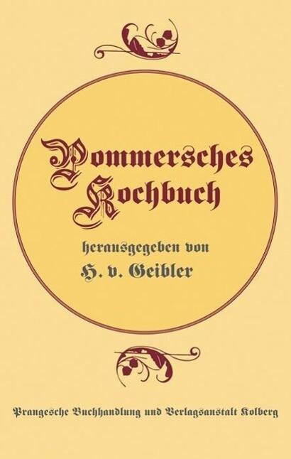 Pommersches Kochbuch als Buch