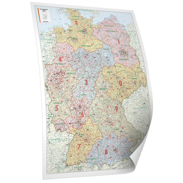 Bacher. Postleitzahlenkarte Deutschland 1 : 700 000. Poster-Karte als Buch