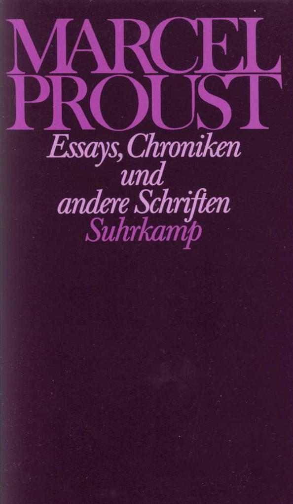 Essays, Chroniken und andere Schriften als Buch