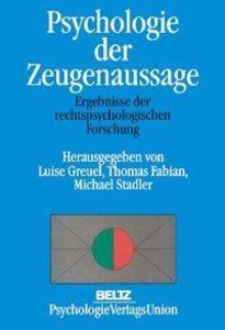 Psychologie der Zeugenaussage als Buch