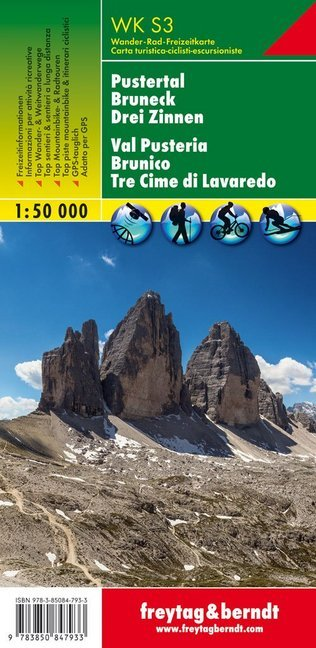 Südtirol 03 Pustertal - Bruneck - Drei Zinnen 1 : 50 000. WKS3 als Buch