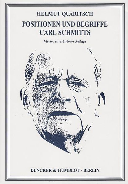 Positionen und Begriffe Carl Schmitts als Buch