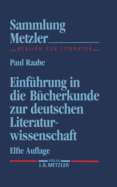 Einführung in die Bücherkunde zur deutschen Literaturwissenschaft als Taschenbuch