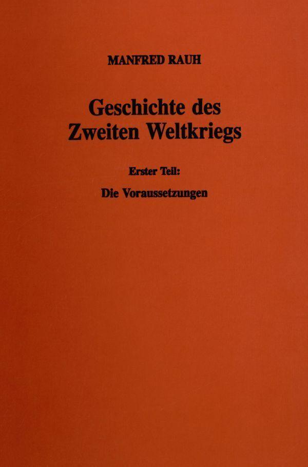 Geschichte des Zweiten Weltkriegs I als Buch