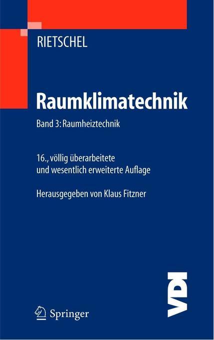 Raumklimatechnik 3 als Buch