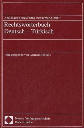 Rechtswörterbuch Deutsch-Türkisch als Buch