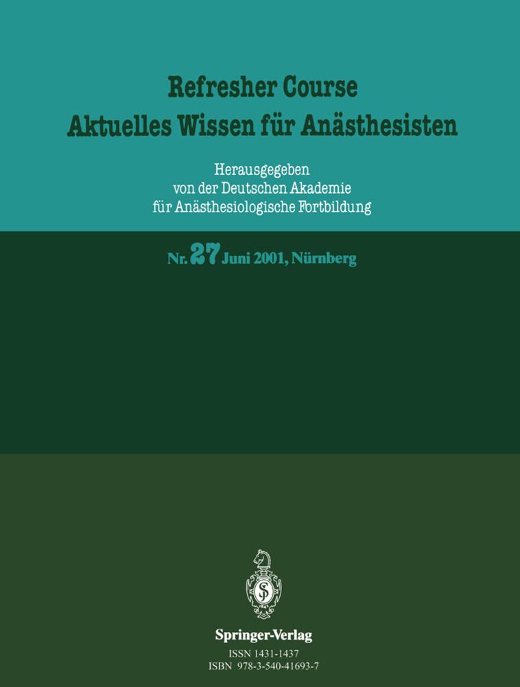 Refresher Course. Aktuelles Wissen für Anästhesisten als Buch (gebunden)