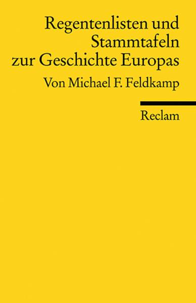 Regentenlisten und Stammtafeln zur Geschichte Europas als Taschenbuch