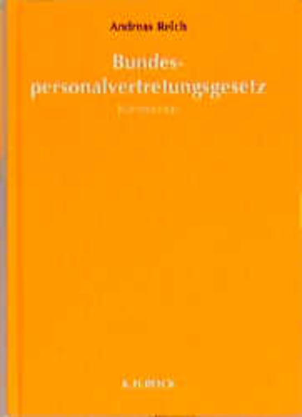 Bundespersonalvertretungsgesetz als Buch