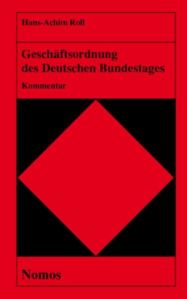 Geschäftsordnung des Deutschen Bundestages als Buch