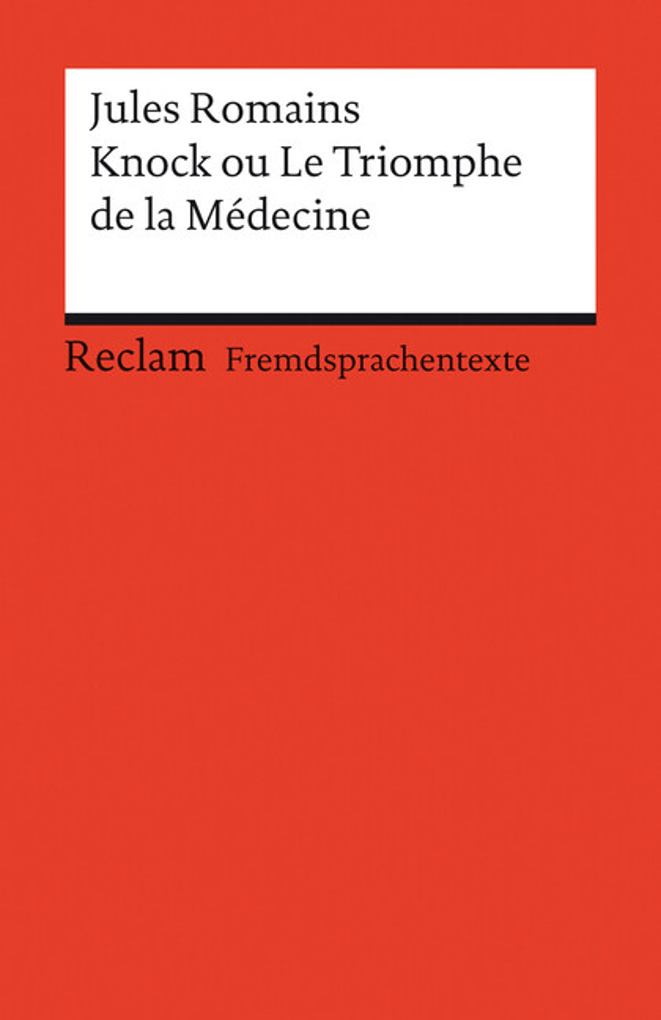 Knock ou Le Triomphe de la Medecine als Taschenbuch
