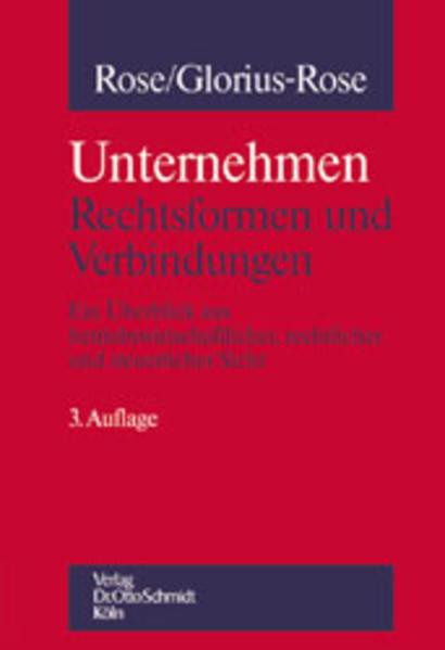 Unternehmung: Rechtsformen und Verbindungen als Buch