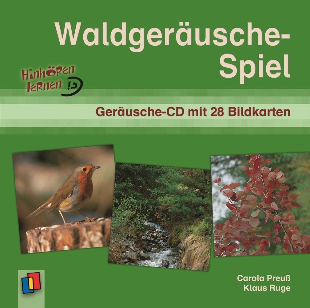 Waldgeräusche-Spiel. CD und 28 Bildkarten als Hörbuch