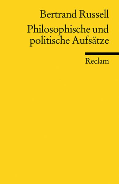 Philosophische und politische Aufsätze als Taschenbuch