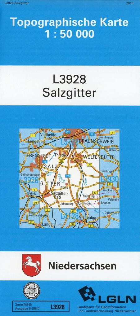 Salzgitter 1 : 50 000. (TK 3928/L) als Buch