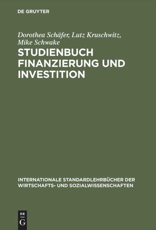 Studienbuch Finanzierung und Investition als Buch