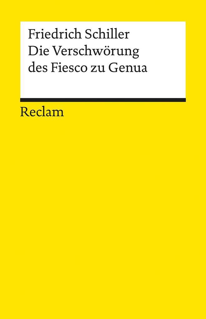 Die Verschwörung des Fiesko zu Genua als Taschenbuch