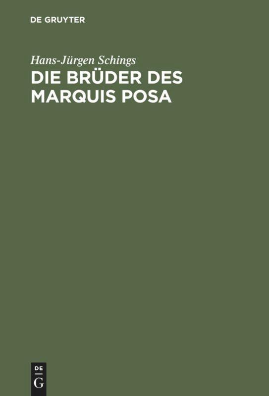 Die Brüder des Marquis Posa als Buch