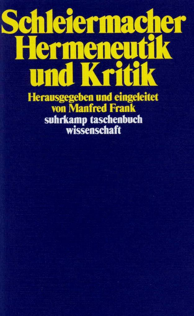 Hermeneutik und Kritik als Taschenbuch