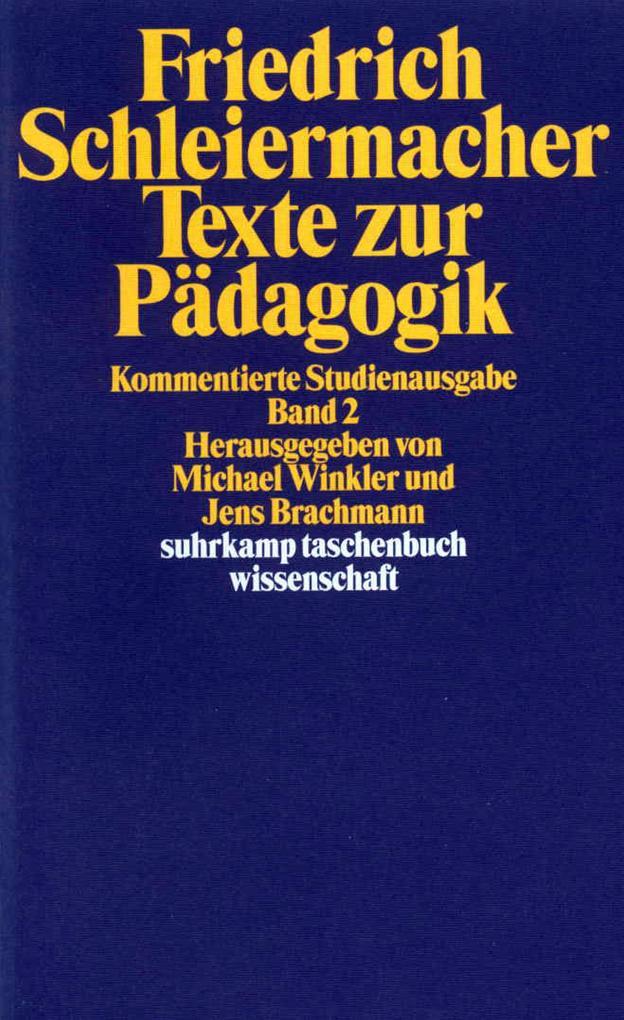 Texte zur Pädagogik 2 als Taschenbuch
