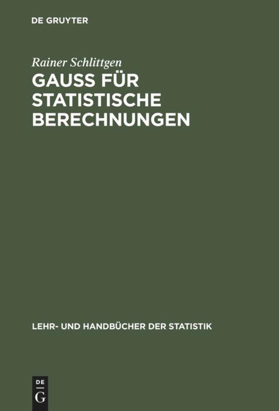 GAUSS für statistische Berechnungen als Buch