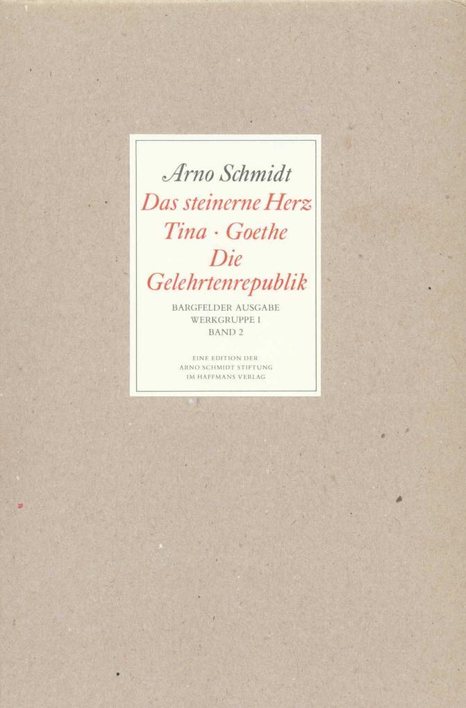 Bargfelder Ausgabe. Standardausgabe. Werkgruppe 1, Band 2 als Buch