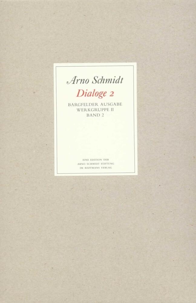 Bargfelder Ausgabe. Standardausgabe. Werkgruppe 2, Band 2 als Buch
