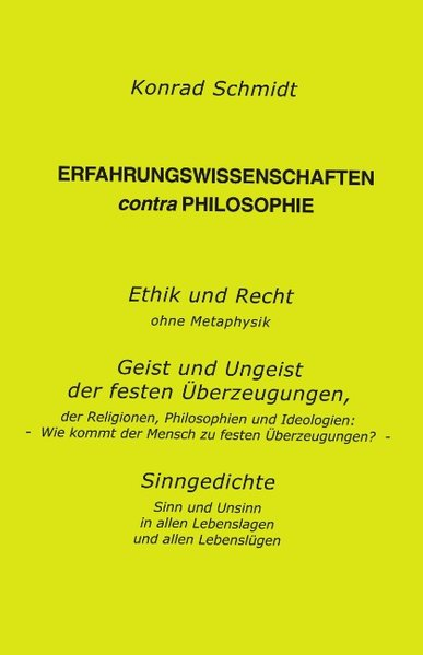 Erfahrungswissenschaften contra Philosophie als Buch